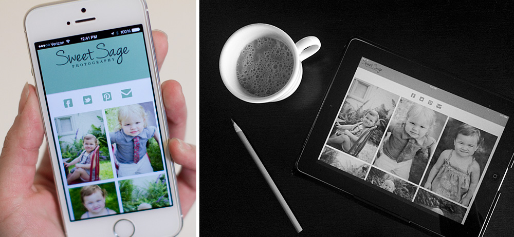 Photography Mobile App by Sweet Sage Photography
